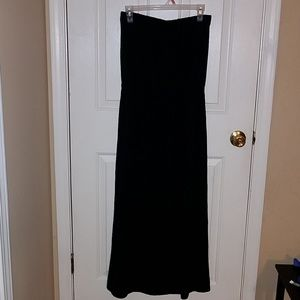 Gap Strapless Maxi Black Dress